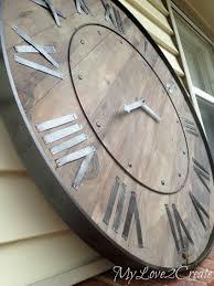 Garden Wall Clocks by Oversized Wall Clocks Like Rustic Wall Decoration Ideas