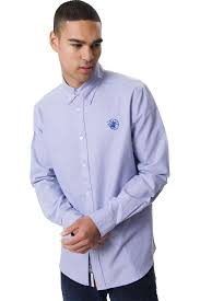 santa monica polo club mens long sleeve plus size collared shirt