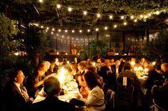 Backyard Wedding Lighting by I Like The Lights To Make A Backyard Wedding Feel More Like An