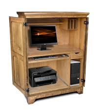 Wood Computer Armoire by Rustic Shaker Computer Armoire