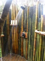 impressive outdoor bathroom shower with bamboo accessories natural outdoor bathroom shower with bamboo walls accessories