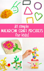 simple macaroni crafts for kids