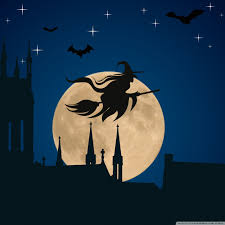 android halloween wallpaper halloween witch flying hd desktop wallpaper widescreen high