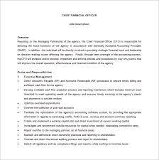 cfo report template cfo description template 10 free word pdf format
