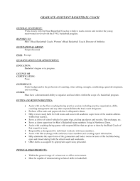 Youth Resume Sample by Basketball Coach Resume Samples Tips And Templates Professional