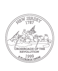 coloring pages quarter usa printables new jersey state quarter us states coloring pages