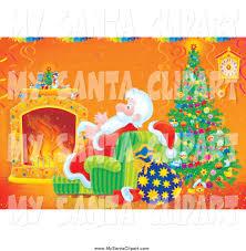 royalty free stock santa designs of christmas trees