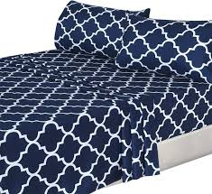 Bed Sheet Sets King by Amazon Com 3 Piece Bed Sheets Set Twin Navy 1 Flat Sheet 1