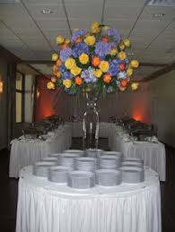 Table Buffet Decorations by Like The Round Table At The End For Plates Decorated With Some