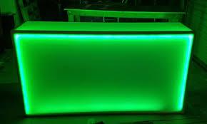 6 foot led light bar light up 6 foot rolling counter led glow bar on wheels led glow