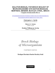 solution manual for brock biology of microorganisms 14th edition