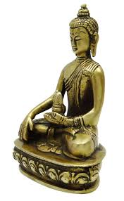 lord buddha statue home decor brass tibetan sculpture table decor