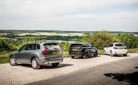 land wind vs land rover volvo xc90 vs bmw x5 vs range rover sport triple test review 2015