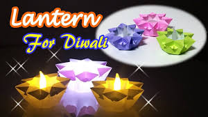 origami star candle holder ideas for diwali decoration at home