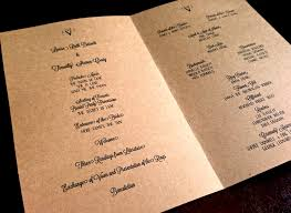 wedding programs paper kraft paper wedding programs some of lovely ride