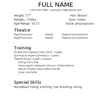 acting resume template for microsoft word theatre resume template word acting resume with the best template