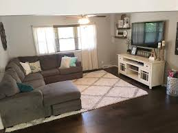 single wide manufactured mobile home trailer remodel makeover single wide manufactured mobile home trailer remodel makeover living room wall color is smoked oyster by valspar but i had it shade matched in