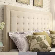 bellevista button tufted square queen upholstered headboard by