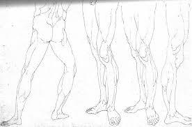 drawn legz male pencil and in color drawn legz male