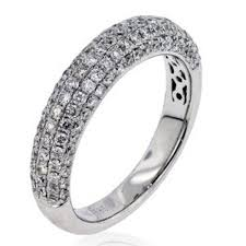wedding rings pave images Arthurs collection diamond pave set white gold womens wedding jpg