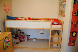 Ikea Bunk Bed Ikea Bunk Bed Hack More Ikea Kura Bunk Bed Before - Low bunk beds ikea