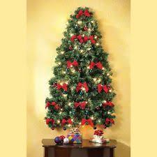 half wall tree werchristmas pre lit wall mounted