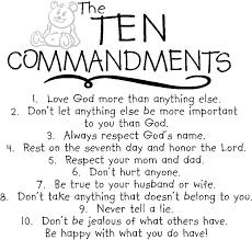ten commandments catholic colorin