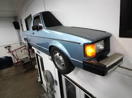 volkswagen rabbit truck cutting a vw rabbit truck in half to hang on your wall solidsmack
