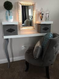 diy dressing table ikea hack floating shelf grey u0026white girls