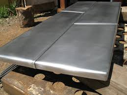 sheet metal coffee table heavy metal works zinc coffee table