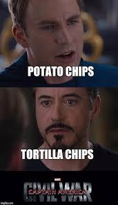 Funny Potato Memes - marvel civil war meme imgflip