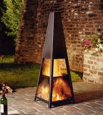 unsorted metall outdoor fireplaces creative fireplaces design ideas