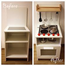 diy play kitchen ideas diy play kitchen made from a bedside cabinet diy ideas pinterest
