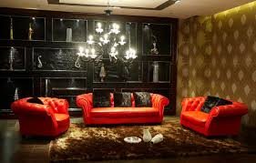 Black And Gold Living Room by Red And Black Living Room Decoration And Design Ideas Home
