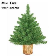 mini artificial trees with wicker basket restricted