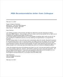 sample mba recommendation letter 6 examples in word pdf