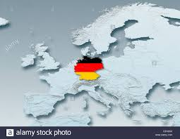 Western Europe Map by Germany Flag Map Western Europe Grey Physical Grey
