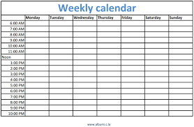 hourly weekly planner template expin memberpro co