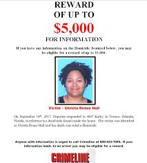 Seeking Rt Pls Rt Seeking Information In The Homicide Of Christa The
