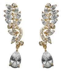 Chandelier Gold Earrings Cz Chandelier Earrings U2013 Beloved Sparkles