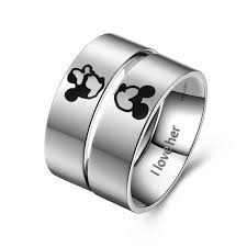 titanium wedding rings titanium wedding rings mickey and minnie rings