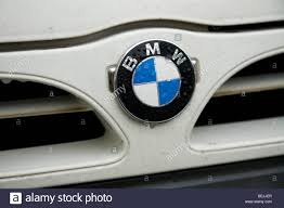 nissan van a nissan van grille with a bmw badge applied stock photo royalty