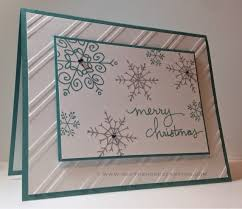 christmas card using endless wishes from the stampin u0027 up 2014