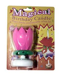 spinning birthday candle the amazing singing opening flower happy birthday candle pink