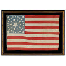 Black And Blue Flag Jeff Bridgman Antique Flags And Painted Furniture 37 Stars In 4
