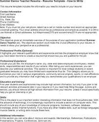 cover letter for resume exle sle dancer cover letter 3 instructor nardellidesign