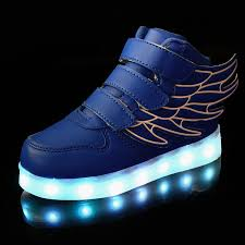 shoes with lights on the bottom 2018 new kids boy usb charger led light unisex shoes high top