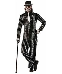 skeleton pinstripe suit costume celebrate halloween with el dia