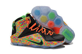 multi color lava l nike lebron 12 fruity pebbles black multi color mens for sale nq 51x l