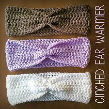 crochet ear warmer headband ravelry cinched ear warmer headband pattern by langford
